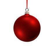 电灯泡圣诞节红色 库存图片