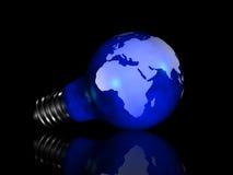 电灯泡地球光 皇族释放例证