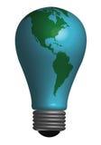 电灯泡地球 库存图片