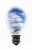 电灯泡天空 库存图片