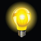 电灯泡孤立闪亮指示 向量例证