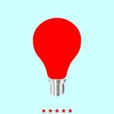 电灯泡它是颜色象 库存图片