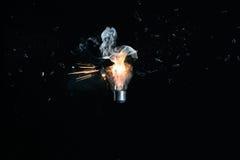 电灯泡展开的光 免版税库存图片