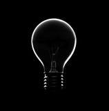 电灯泡想法剪影 库存照片