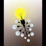 电灯泡想法概念传染媒介 皇族释放例证