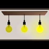 电灯泡想法概念传染媒介 库存例证