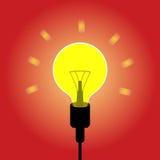 电灯泡想法概念传染媒介 免版税图库摄影