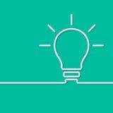 电灯泡想法概念模板 向量 库存照片