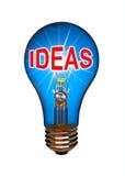 电灯泡想法概念 库存图片