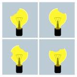 电灯泡想法概念 库存照片