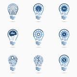 电灯泡想法象集合 免版税库存图片