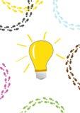 电灯泡想法 免版税图库摄影