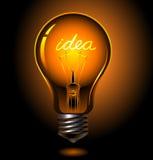 电灯泡想法 图库摄影