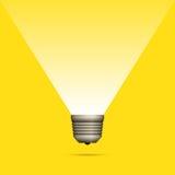 电灯泡想法Copyspace 免版税库存照片