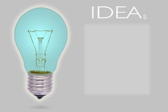 电灯泡收集设计要素图标想法光徽标集合模板向量 库存照片