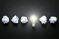 电灯泡收集设计要素图标想法光徽标集合模板向量 免版税库存照片