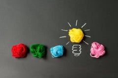 电灯泡收集设计要素图标想法光徽标集合模板向量 库存图片