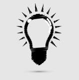 电灯泡时髦的图象启发概念 库存图片