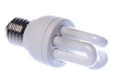 电灯泡查出的光 库存图片