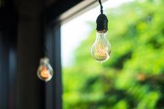 电灯泡查出的轻的白色 免版税图库摄影