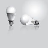 电灯泡查出的轻的白色 库存图片