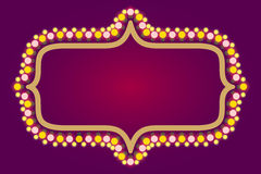 电灯泡框架,赌博娱乐场,圣诞节假日 库存照片