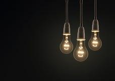电灯泡概念想法例证光向量 免版税图库摄影