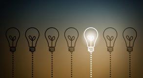 电灯泡概念想法例证光向量 库存照片