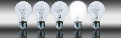 电灯泡概念想法 免版税库存图片