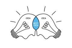 电灯泡概念最佳的想法 免版税库存照片