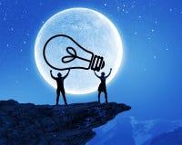 电灯泡概念能源光飞溅水 免版税库存照片