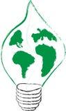 电灯泡概念eco能源绿色叶子光节省额 库存图片