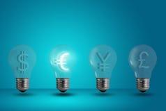 电灯泡欧洲焕发光其他符号 图库摄影