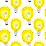 电灯泡灯无缝的样式背景 免版税图库摄影