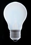 电灯泡灼烧的光 免版税库存图片