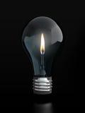 电灯泡烛光焰光 免版税图库摄影
