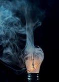 电灯泡烧伤崩裂了  免版税图库摄影