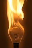 电灯泡燃烧 图库摄影