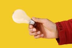 电灯泡现有量光 免版税图库摄影