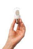 电灯泡现有量导致的藏品闪亮指示 库存图片