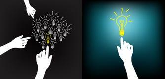 电灯泡现有量想法 库存例证