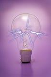 电灯泡电光 库存图片