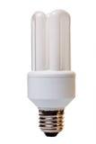 电灯泡电查出的闪亮指示 免版税图库摄影