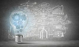 电灯泡的概念作为新的想法的标志的 库存图片
