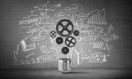 电灯泡的概念作为新的想法的标志的 免版税图库摄影