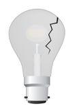 电灯泡破裂的光 免版税库存照片
