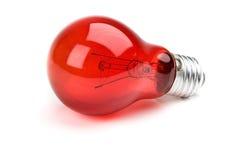 电灯泡红色 库存照片