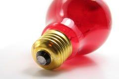 电灯泡红色 免版税库存图片