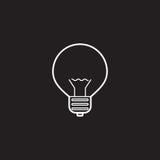 电灯泡线象,灯概述传染媒介商标 库存图片