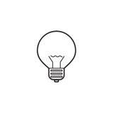 电灯泡线象,灯概述传染媒介商标 免版税库存照片